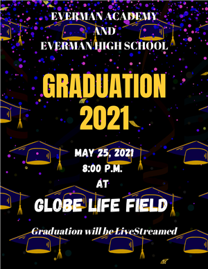 Globe Life Graduation 2021 English Flyer